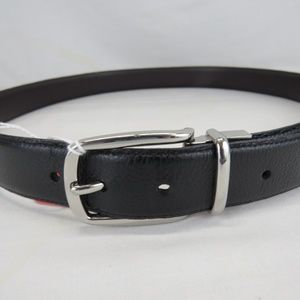 "Polo Men's 44"" Black Leather Men's Belt"